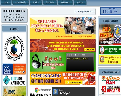 DRE AYACUCHO Prueba Contrato Docente 2013 Ayacucho (03 Febrero 2013)