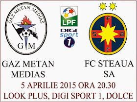 GAZ METAN MEDIAŞ - FC STEAUA SA BUCUREŞTI