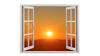 Da minha janela vejo um um lindo por do sol