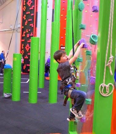 Clip n Climb Maryport - Lucas climbing.