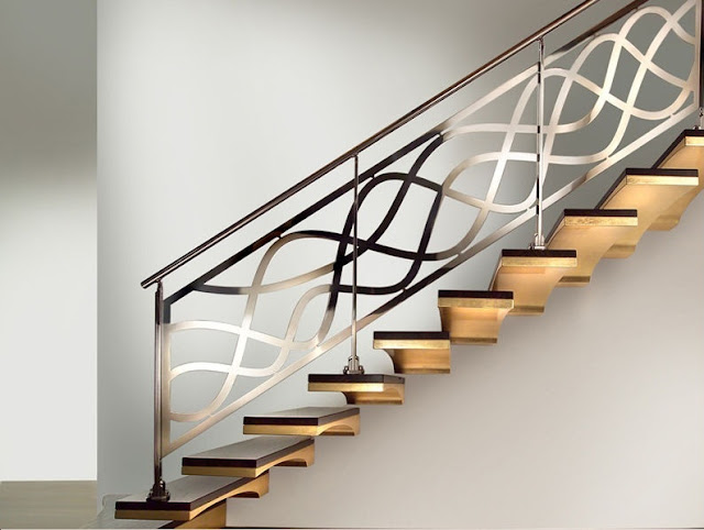 stainless steel staircase railings, interior stair railing ideas