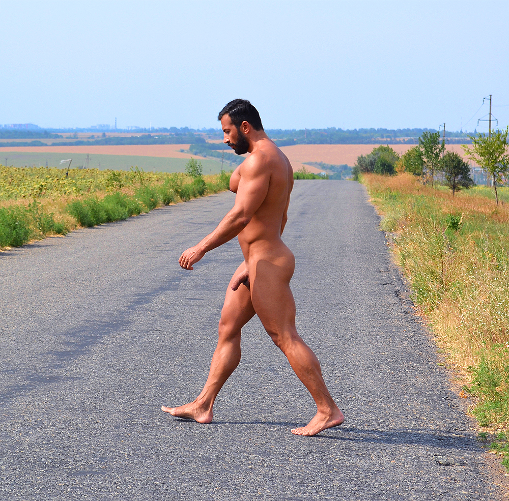 from Eli men jogging bare ass