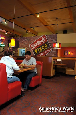 Inside Shakey's Pizza Parlor in California, USA