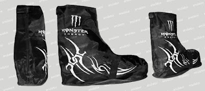 Jas Hujan Rain  Cover Sepatu Monster Tribal