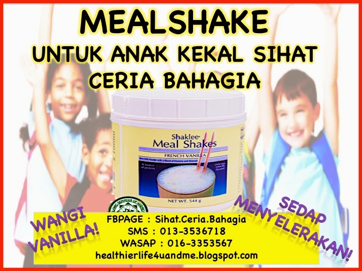 Mealshake Makanan Tambahan Sihat Untuk Anak-Anak Yang ...
