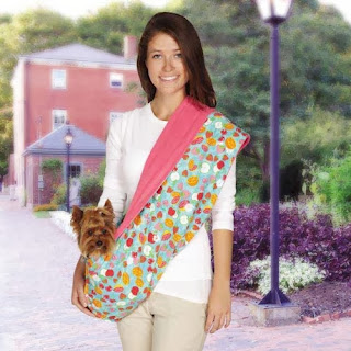 East Side Collection Fruit Frenzy Reversible Sling Pet Carrier