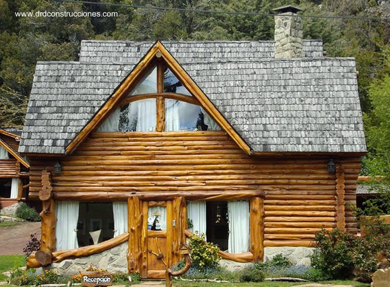 Arquitectura de casas caba as para el turismo en bariloche - Como hacer una cabana de madera ...