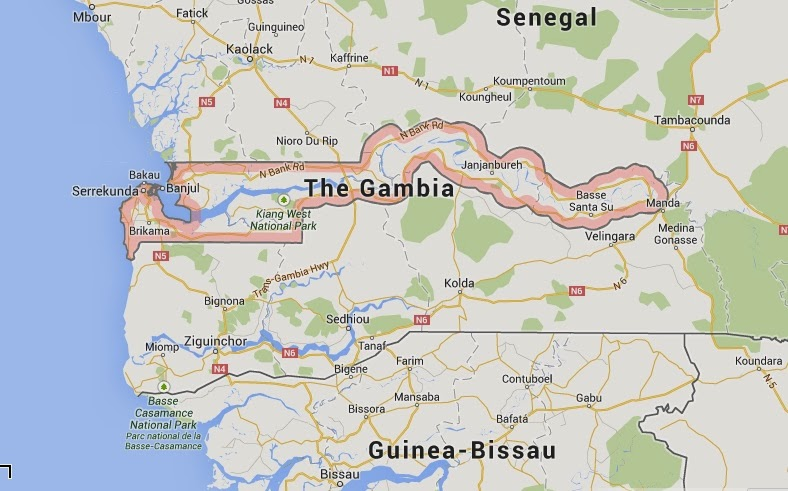 TravelHappinessLife The Gambia Relaxed Africa - What is the smallest country in africa