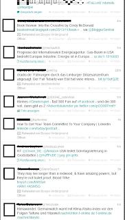 Das Bild zeigt den Gesprächsverlauf von Twitter