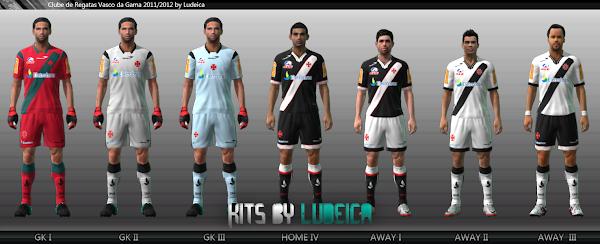 Uniformes do Vasco 2011 para PES 2011 Download