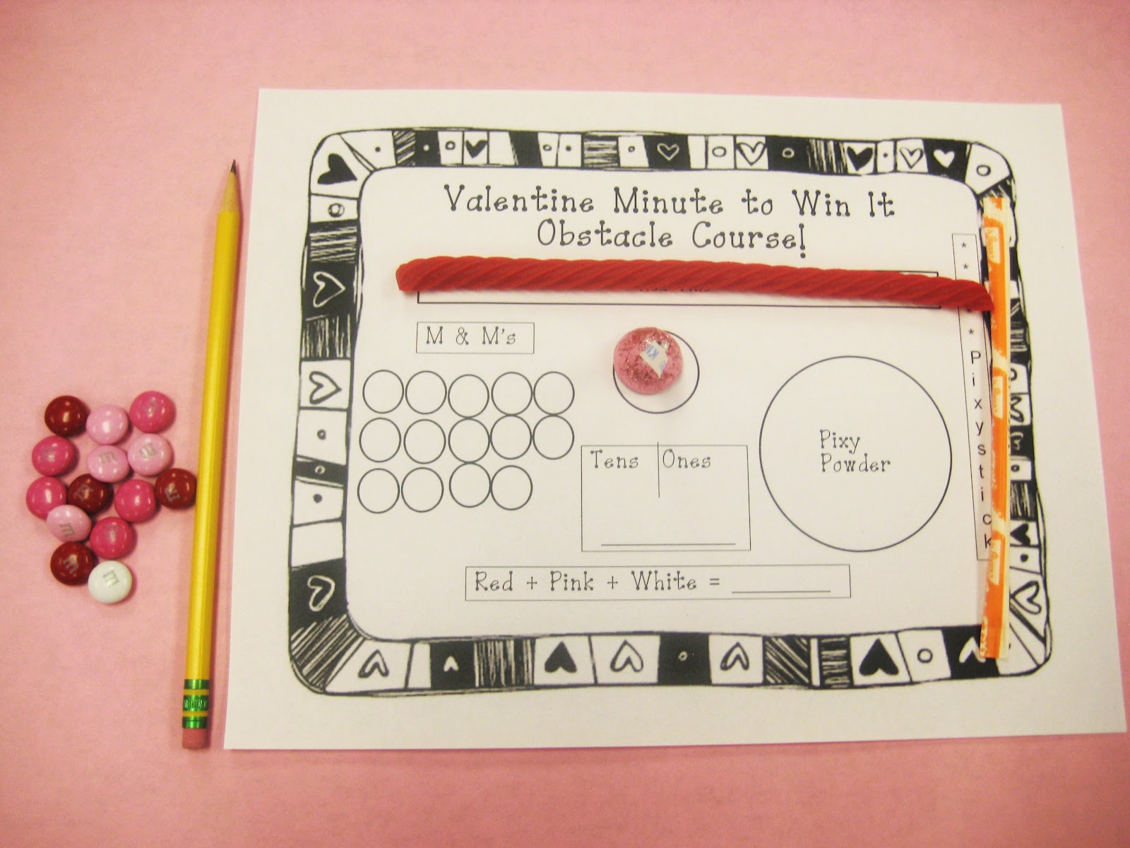 click for minute to win it valentine printable - Valentine Minute To Win It Games