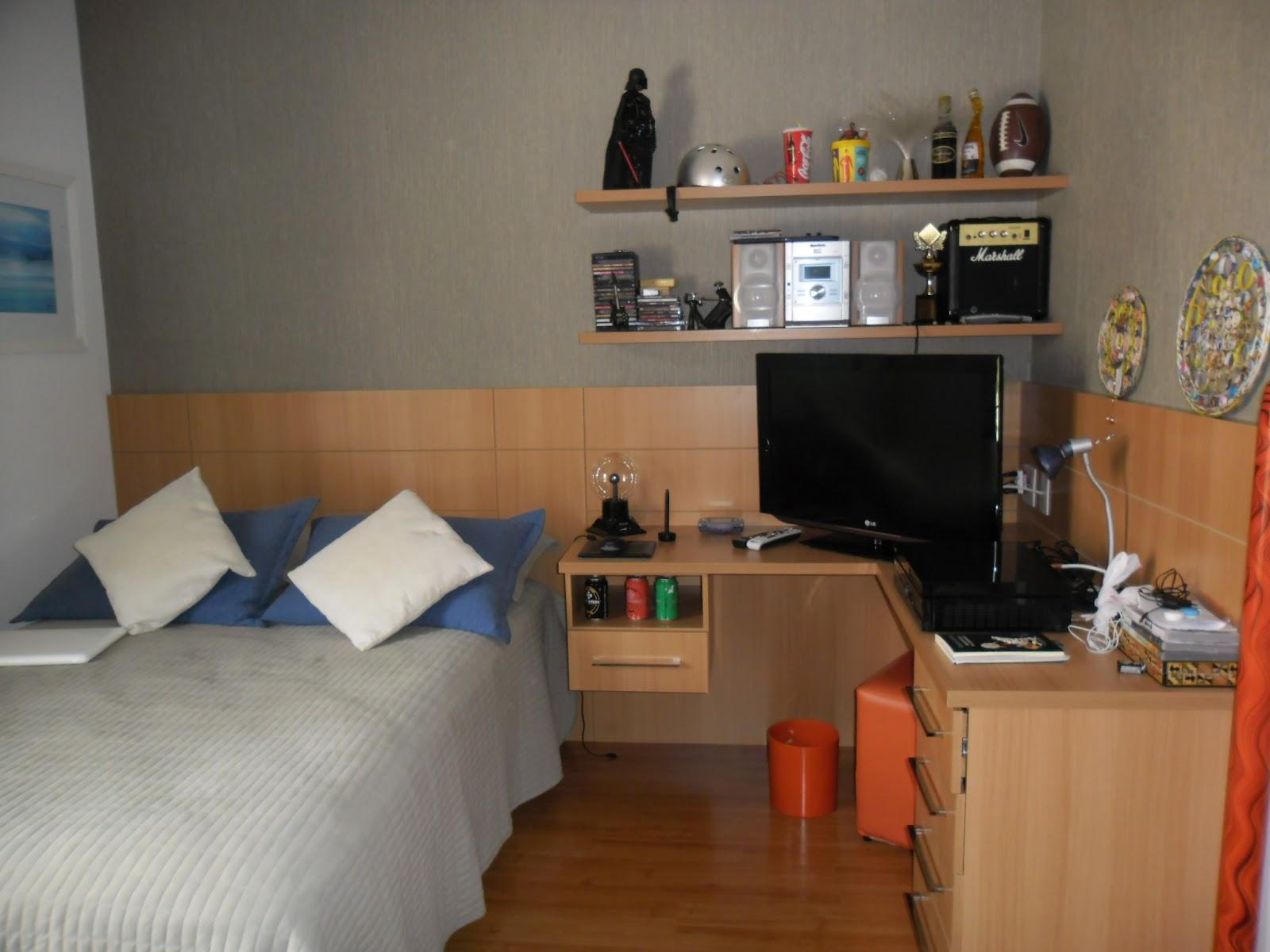 Painel de cabeceira de cama e escrivaninha em L. #AC3E1F 1600 1200