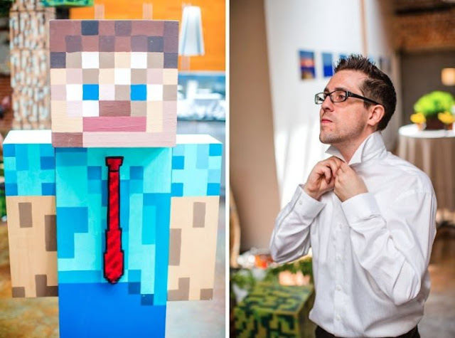 A Wedding inspired from Minecraft Game