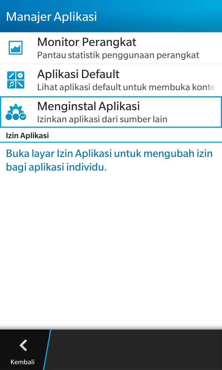 Cara Pakai APK Android di BlackBerry 10