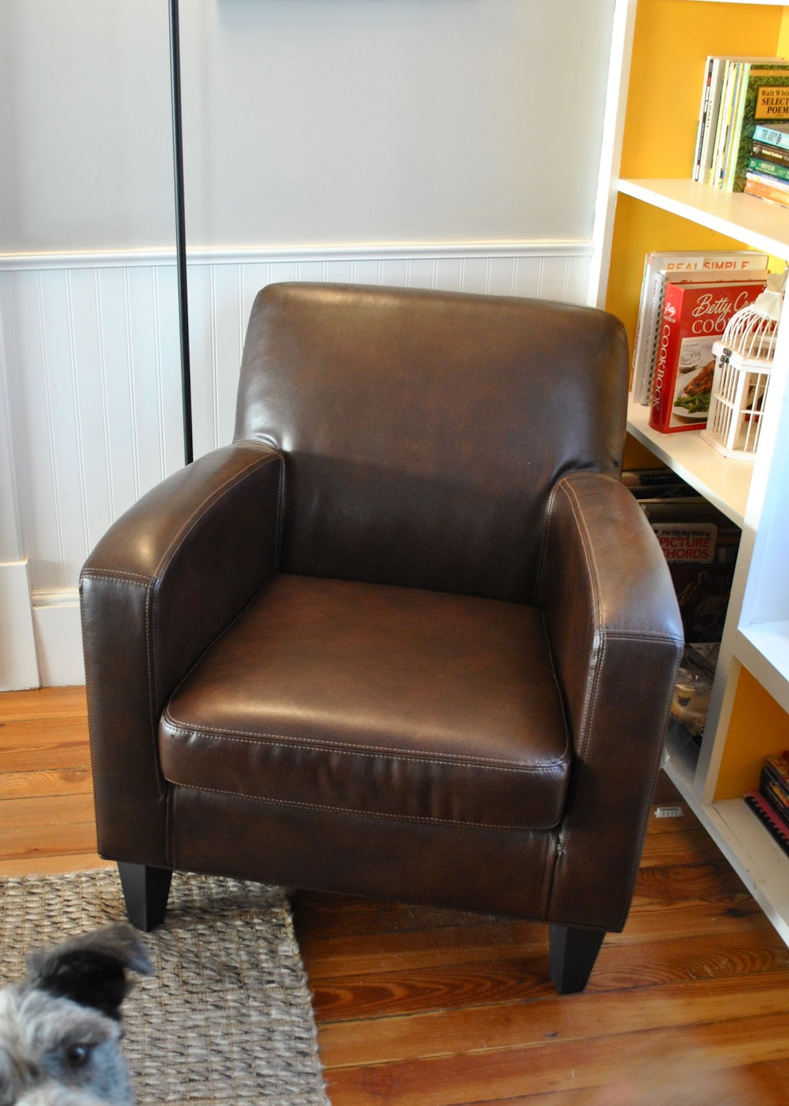 Ikea leather chair brown - So Apparently The Reason Nate Loved The Chair From World Market Was Because Of How The Seat Cushion Wasn T The Leather So His Legs Wouldn T Stick To It If