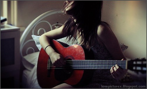 sad, alone, girl, love, guitar | lovepicturex