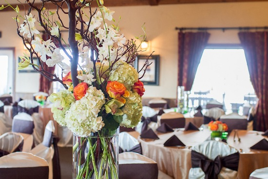 gorgeous and large floral arrangement at the reception