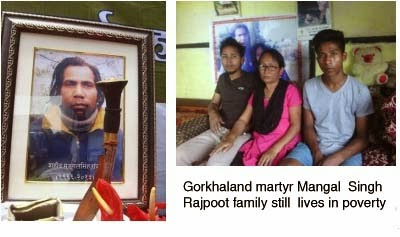 Gorkhaland martyr Mangal Singh Rajpoot family still lives in poverty