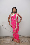 Actress Nisha Latest Photos in Pink saree-thumbnail-14