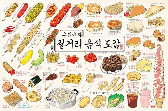 Jedzenie koreańskiej ulicy.
