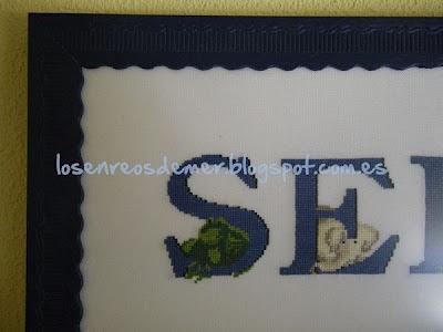Letras S, E, a punto de cruz