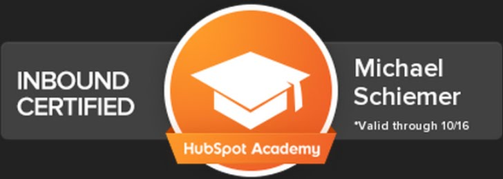 Mike Schiemer Is A HubSpot Certified Inbound Marketing Pro. Read My Free 10-Part Guide:
