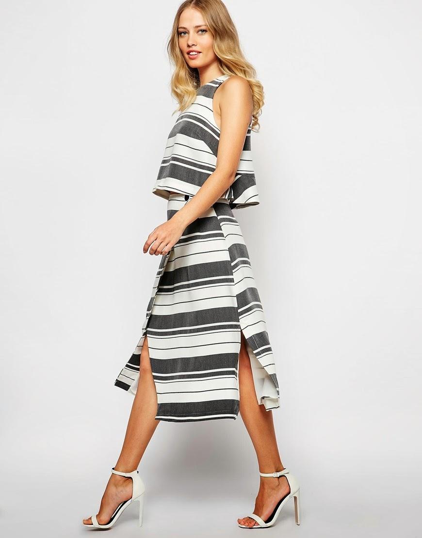 whistles striped skirt