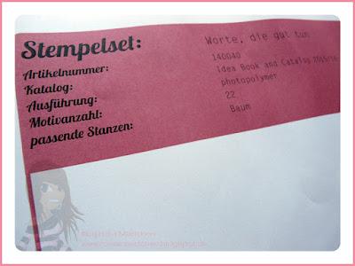 Rosa Mädchen Stampin' Up! Stempelmusterblätter - Tipp für Photopolymer Stempel