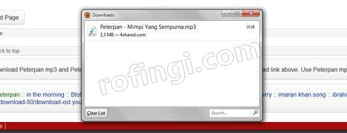 Cara baru Download lagu di 4shared4