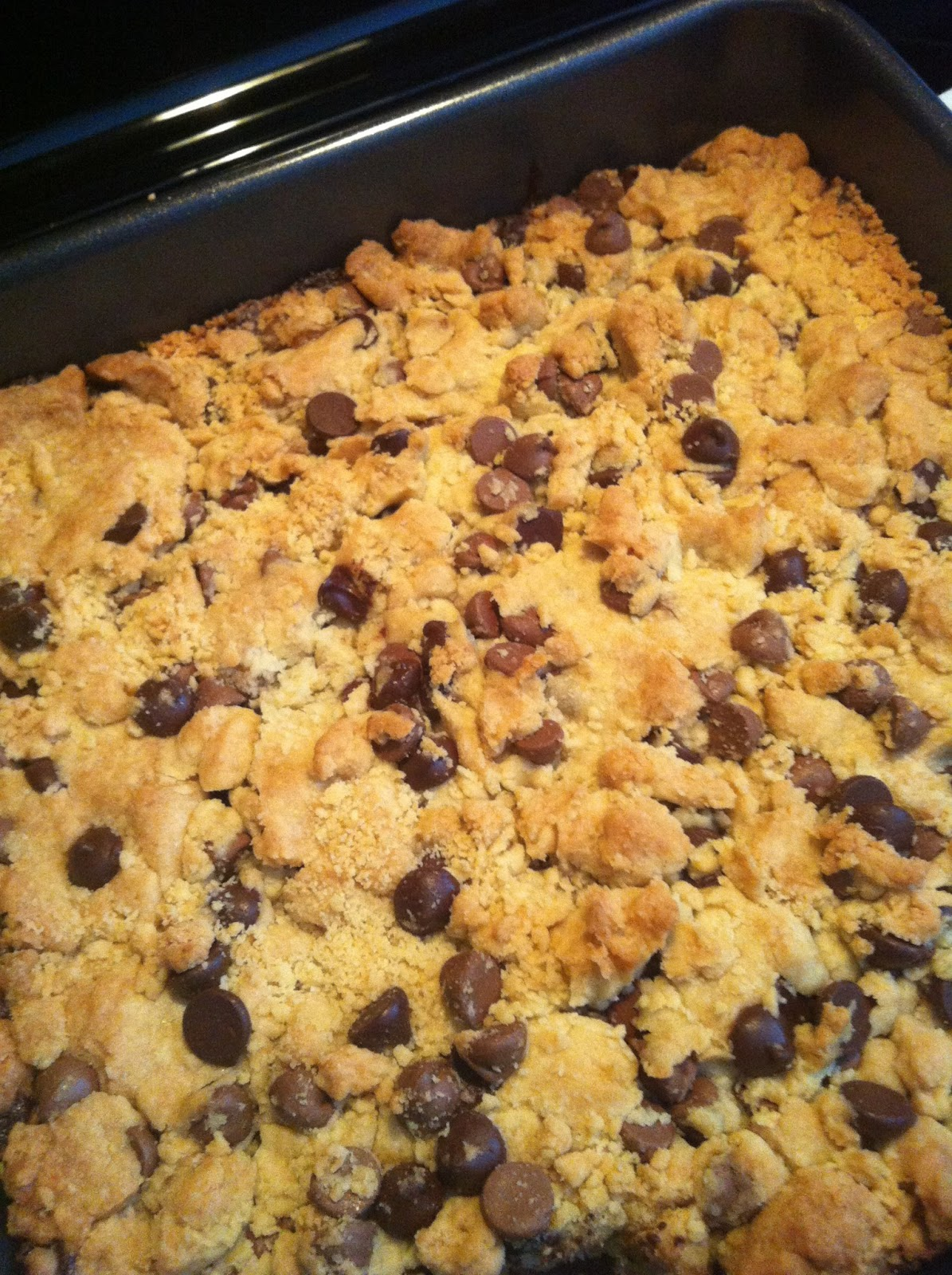 ... Cause I Want To: Chocolate Chip Cookie Topped Brownies - My First Post