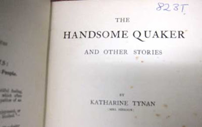 Title page reading The Handsome Quaker with author byline as described