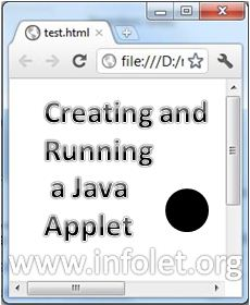 Creating and running a java applet using applet viewer