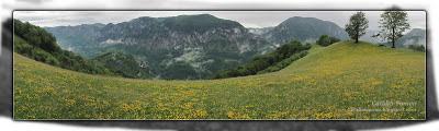 Valea Cernei vazuta de la Dobraia