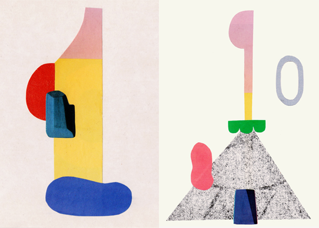 abstract colour collages by laura redburn / cardboardcities