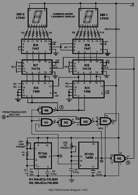DIGITAL       SPEEDOMETER    CIRCUIT SCHEMATIC    DIAGRAM         Wiring       Diagram