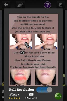 Pimple Eraser HD - phần mềm chỉnh sửa ảnh trên iphone