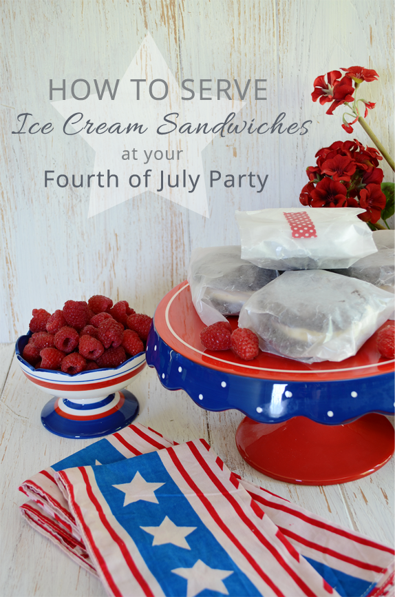 How to Serve Ice Cream Sandwiches at your Fourth of July Party from www.andersonandgrant.com