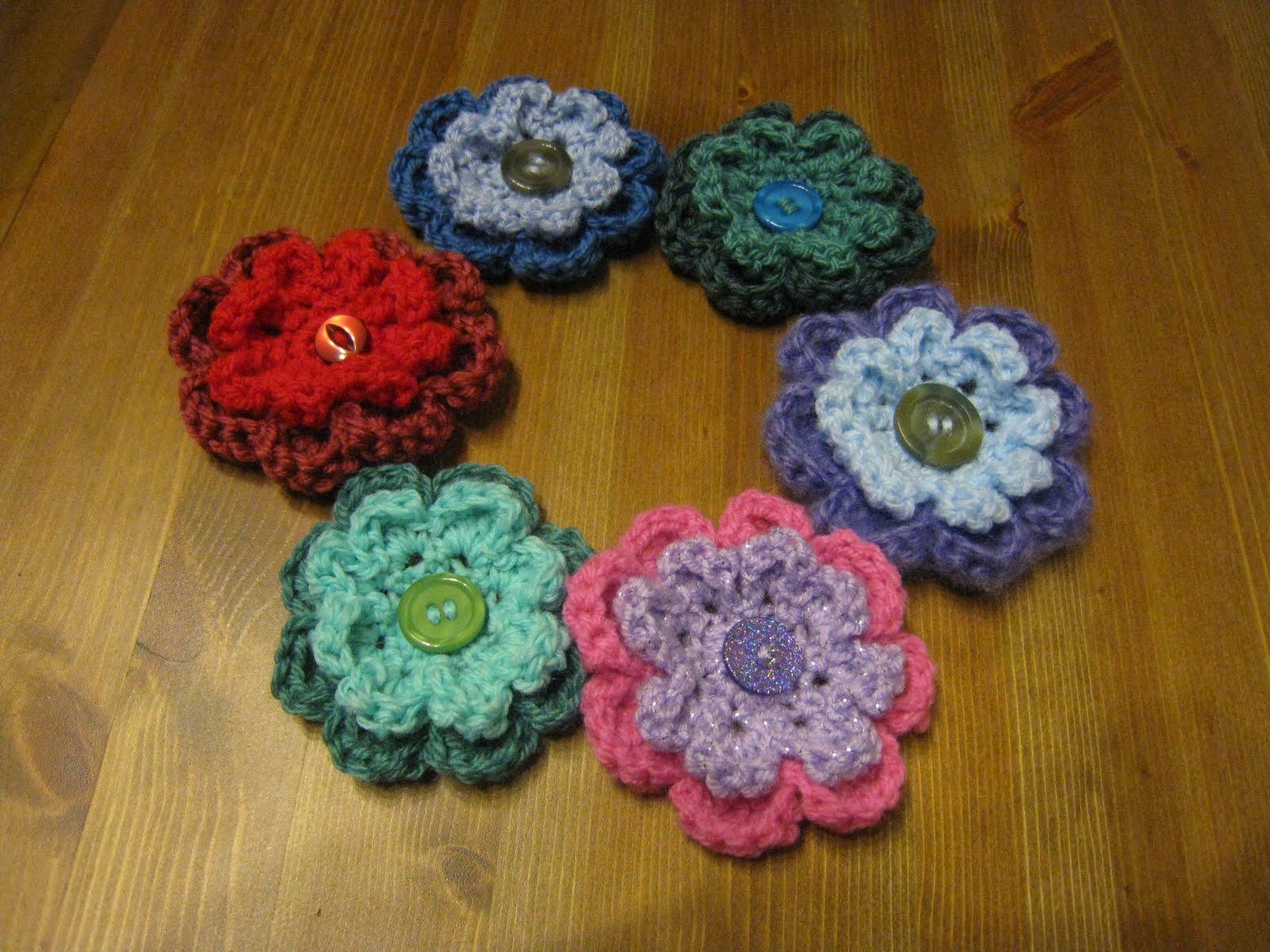 Crochet A Flower Brooch Pattern : Crochet boobs for cancer pt.: Flower brooch by Jessica Felton