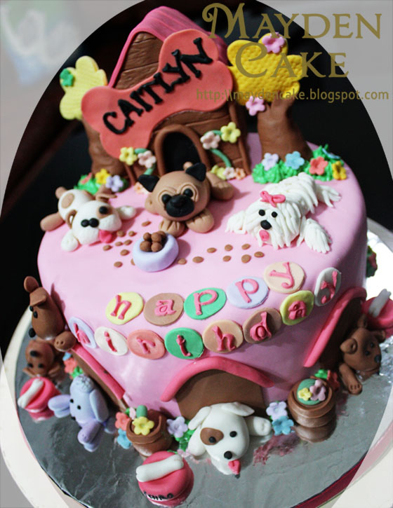 Dog Themed Birthday Cake For Caitlyn