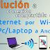 Como solucionar el problema de conexion compartida de Internet por Wi-Fi de PC/Laptop a Smartphone o Tablet