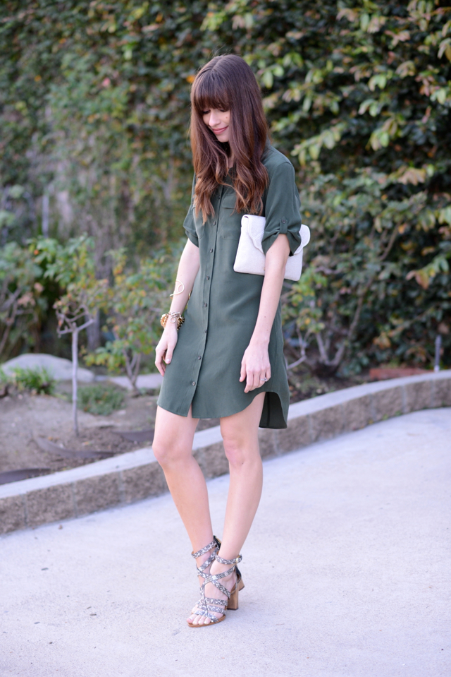 equiment slim silk shirtdress M Loves M @marmar