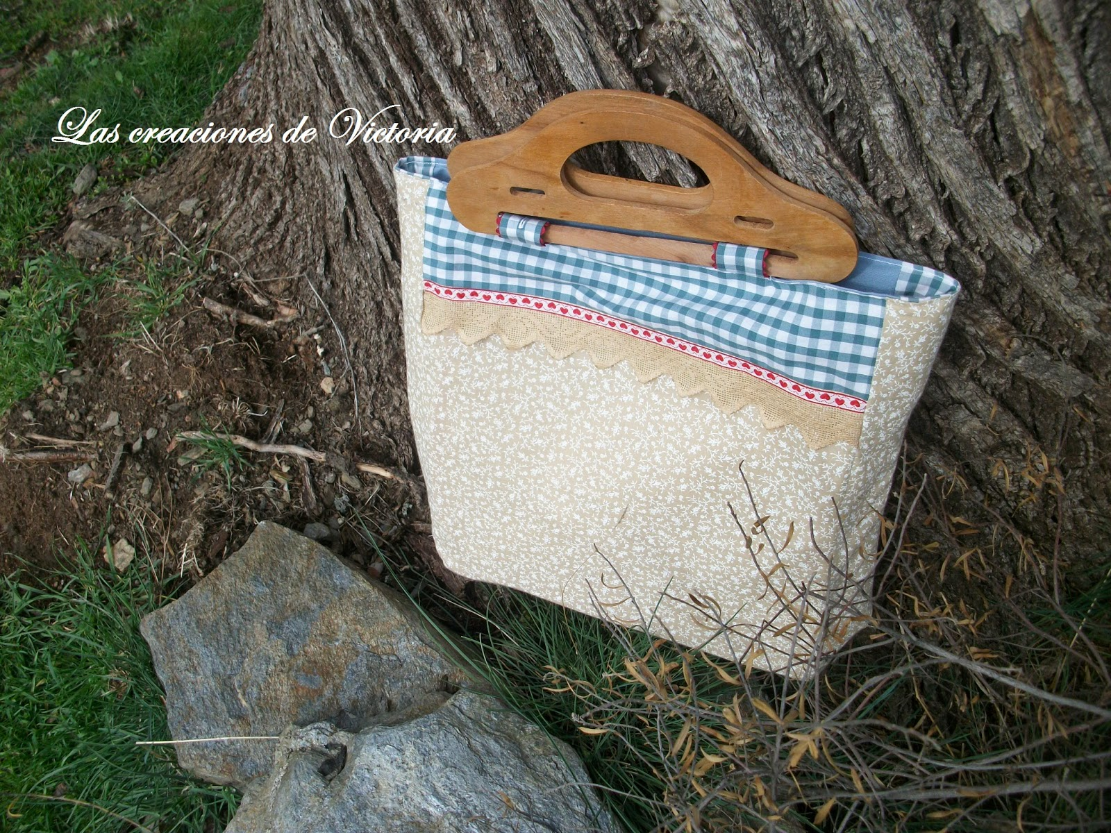 Las creaciones de Victoria.Bolso patchwork.Costura