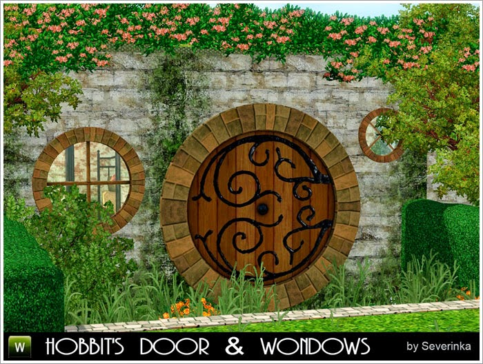 Hobbit Doors and Windows by Severinka & My Sims 3 Blog: Hobbit Doors and Windows by Severinka