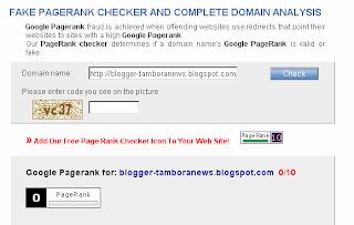 Cara Mudah Check Pagerank Blog Anda