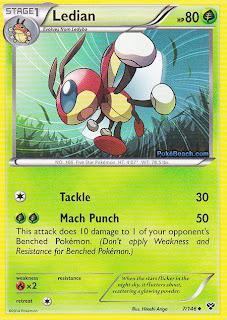 Ledian Pokemon X and Y Card