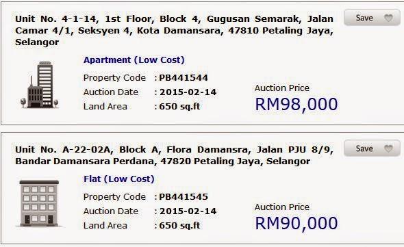 Apt di Petaling Jaya Bawah RM 100k