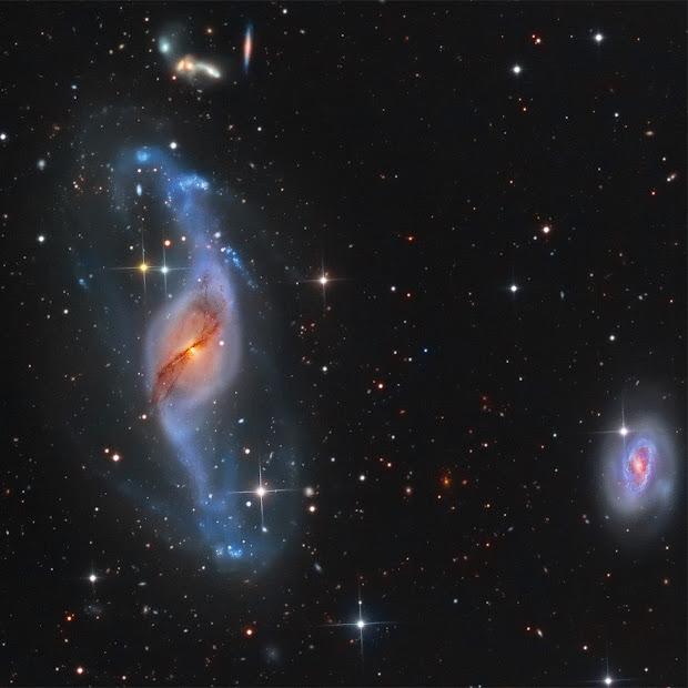 Peculiar Barred Spiral Galaxy NGC 3718