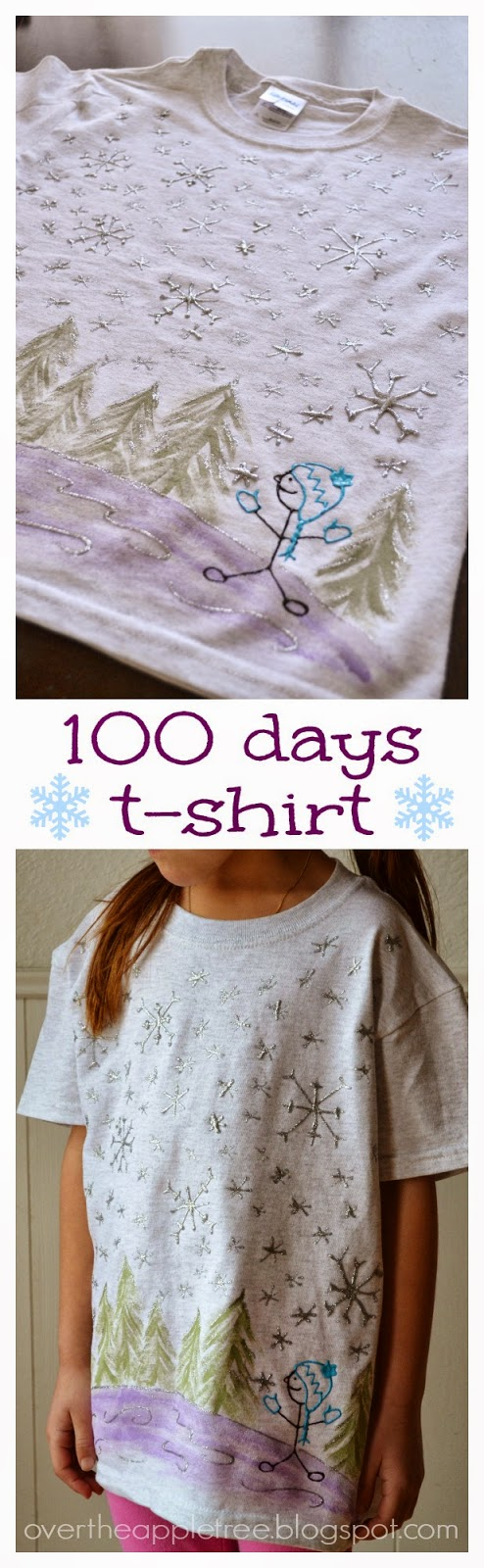 100 days of school t-shirt idea >> Over The Apple Tree