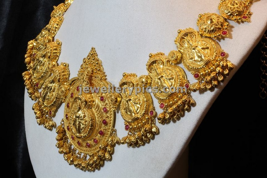 BHima jewellers temple necklace collection - Latest Jewellery Designs