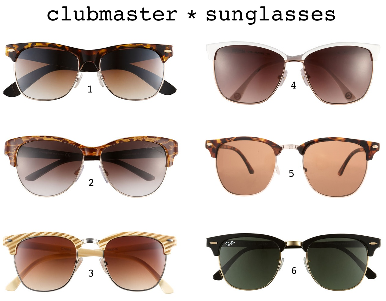 La Petite Gigi: Trend Throwback: Clubmaster Sunglasses